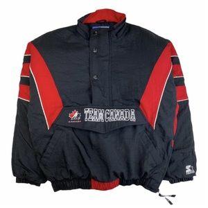 Vintage 90s Starter Team Canada zip windbreaker